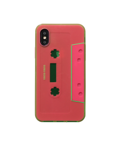 nana-nana NOT A CASSETTE TAPE iPhone CASE / N.GREEN-N.PINK