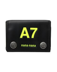 nana-nana LEATHER A7 BAG / BLACK-N.YELLOW PRINT