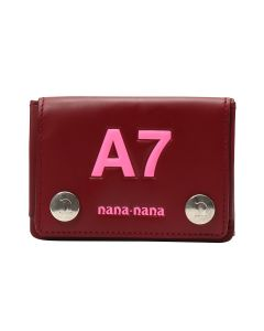 nana-nana LEATHER A7 BAG / RED BROWN-N.PINK PRINT