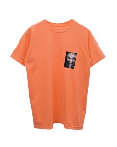 nana-nana TELEPHONE T-SHIRT / NEON ORANGE