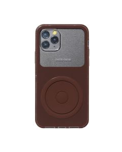 nana-nana NOT A MUSIC PLAYER iPhone CASE / BROWN