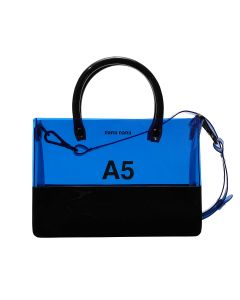 nana-nana PVC x OPAQUE A5 BAG / BLUE-BLACK