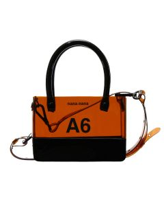 nana-nana PVC x OPAQUE A6 BAG / BROWN-BLACK