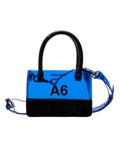 nana-nana PVC x OPAQUE A6 BAG / BLUE-BLACK