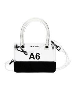nana-nana PVC x OPAQUE A6 BAG / CLEAR-BLACK