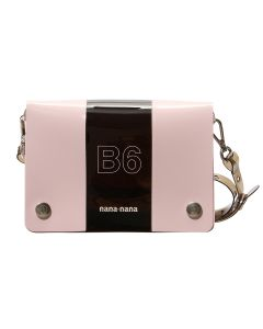 nana-nana PVC x OPAQUE B6 BAG / BLACK-LIGHT PINK