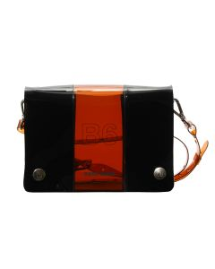 nana-nana PVC x OPAQUE B6 BAG / BROWN-BLACK