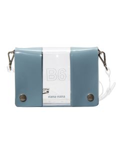 nana-nana PVC x OPAQUE B6 BAG / CLEAR-BLUE GRAY