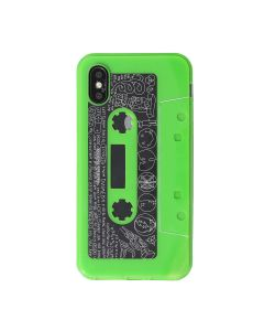nana-nana So-Me iPhone CASE / CLEAR-N.GREEN