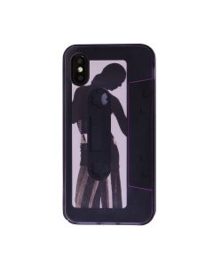 nana-nana KINDNESS iPhone CASE / LAVENDER-BLACK