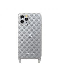nana-nana PUNCHING METAL iPhone CASE / LIGHT GREY