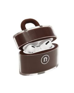 nana-nana NOT A PADLOCK AIR PODS CASE / BROWN