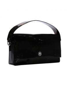 nana-nana PVC RECTANGLE BAG / BLACK