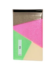 nana-nana PATCHWORK PVC 13INCH / GRAY-PINK-CREAM-GREEN
