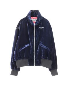 NEGLECT ADULT PATIENTS NAVY VELOUR JACKET / NAVY