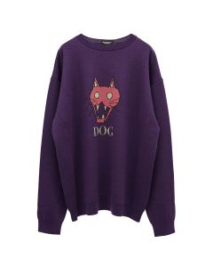 NEGLECT ADULT PATiENTS DOG SWEATER / PURPLE