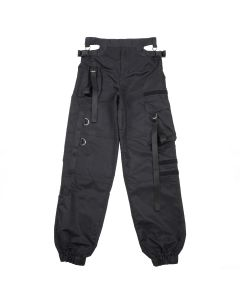 NAMILIA CUTOUT WORKWEAR PANTS / BLACK