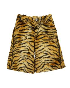 NICOMEDE FAUX FUR TIGER SHORTS / BROWN