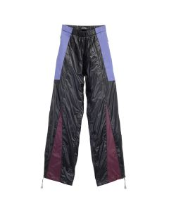 NICOMEDE NYLON PANELLED TRACKPANT / BLACK-RED-BLUE