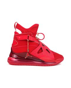 NIKE W JORDAN AIR LATITUDE 720 LX / 607 : GYM RED/GYM RED-METALLIC GOLD