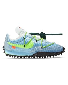 NIKE x OFF-WHITE W WAFFLE RACER/OW / 400 : VIVID SKY/ELECTRIC GREEN-BLACK