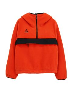 NIKE WMNS ACG M. FLEECE ANORAK / 634 : HABANERO RED/BLACK