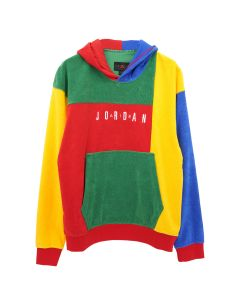NIKE JORDAN SPRT DNA FLEECE CREW / 480 : GAME ROYAL/ALOE VERDE/AMARILLO/UNIVERSITY RED