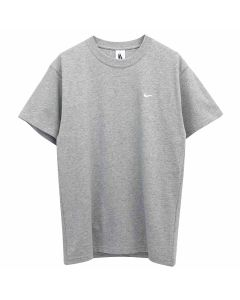 NIKE NRG SWOOSH S/S T-SHIRT / 063 : DARK GREY HEATHER/(WHITE)