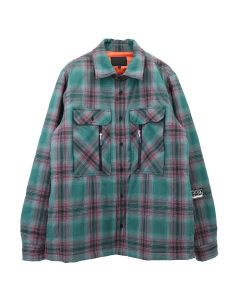 99%IS- CHECK SHIRT / MINT-PINK