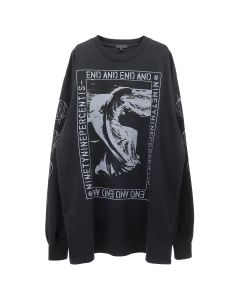 99%IS- END AND' FOR F1NGER LONGSLEEVE T-SHIRT / BLACK