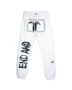 99%IS- END AND' SWEAT PANTS2 / WHITE