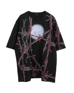 99%IS- WIRE PRINT T-SHIRT / BLACK
