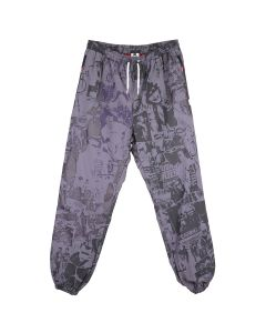 99%IS- COLLAGE PRINT PANTS / GRAY