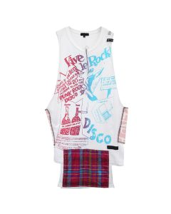 99%IS- SEDITIONARIES PRINT VEST / WHITE