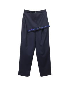 Necessity Sense DOBBY SUIT LAYERD PLEATS TROUSER / MIDNIGHT NAVY