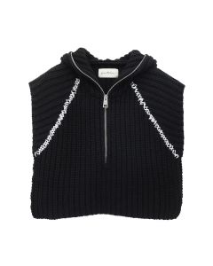 Necessity Sense JAI CROPPED HOODED PULLOVER / BLACK
