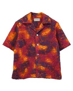 Necessity Sense VALI CUBAN COLLAR S/S SHIRT / HARD PAINTED TIE DYE LACE