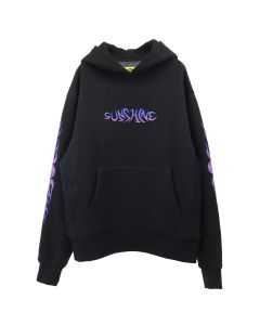 NEW YORK SUNSHINE ON FIRE HOODIE / BLACK