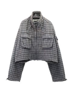 OTTOLINGER CARGO JACKET / CHECK DARK