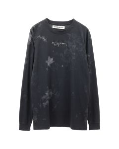 OTTOLINGER LONGSLEEVE EMBROIDERY / BLACK WHITE PAINT