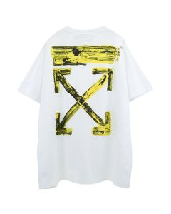 OFF-WHITE c/o Virgil Abloh MENS ACRYLIC ARROWS S/S OVER TEE / 0160 : WHITE YELLOW