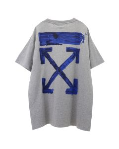 OFF-WHITE c/o Virgil Abloh MENS ACRYLIC ARROWS S/S OVER TEE / 0730 : MELANGE GREY