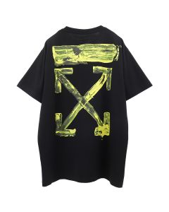 OFF-WHITE c/o Virgil Abloh MENS ACRYLIC ARROWS S/S OVER TEE / 1060 : BLACK YELLOW