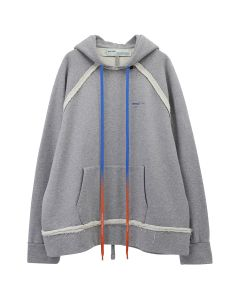 OFF-WHITE c/o Virgil Abloh MENS ACRYLIC ARROWS INCOMP HOODIE / 0730 : MELENGE GREY