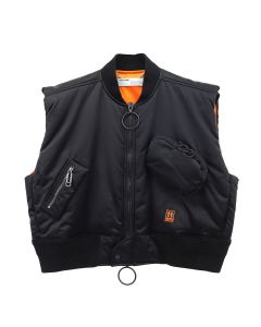 OFF-WHITE c/o Virgil Abloh MENS SCAFFOLDING BOMBER VEST / 1001 : BLACK WHITE