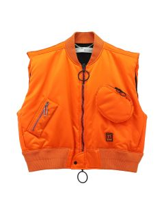 OFF-WHITE c/o Virgil Abloh MENS SCAFFOLDING BOMBER VEST / 1910 : ORANGE BLACK