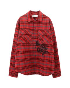 OFF-WHITE c/o Virgil Abloh MENS FLANNEL CHECK SHIRT / 2010 : RED BLACK