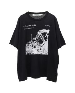 OFF-WHITE c/o Virgil Abloh MENS RUINED FACTORY KNIT TEE / 1001 : BLACK WHITE
