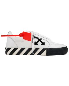 OFF-WHITE c/o Virgil Abloh MENS LOW VULCANIZED / 0110 : WHITE BLACK