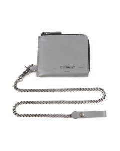 OFF-WHITE c/o Virgil Abloh MENS SEASONAL LOGO CHAIN WALLET / 0810 : MEDIUM GREY BLACK